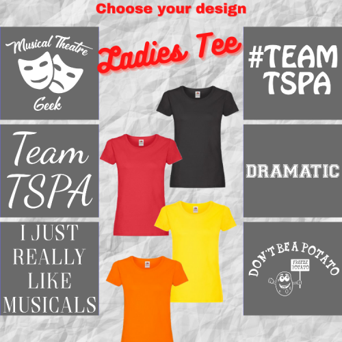 TSPA Girl/Lady Fit Tee Choose Your Design
