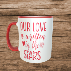 Our Love is Written in the Stars Valentines Mug