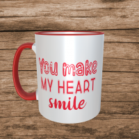 You Make My Heart Smile Valentines Mug