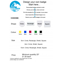 Design Your Own Badges Activity
