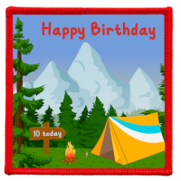 Happy Birthday On Camp Badge